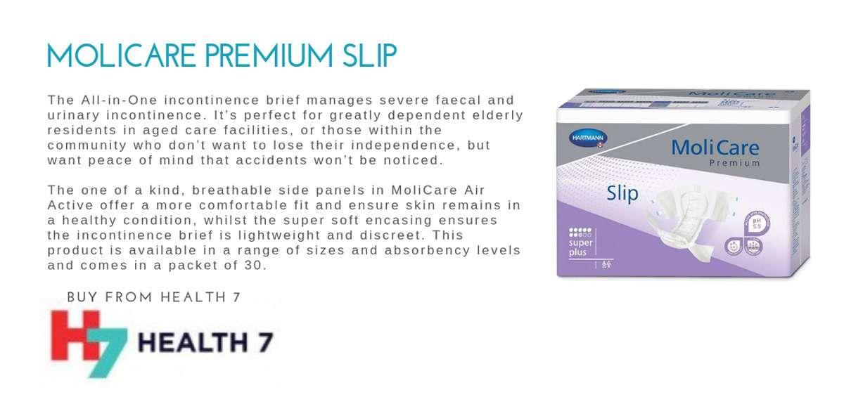 Molicare Premium Slip Continence Pad Range New Zealand